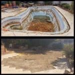 Before and after of a swimming pool removal job